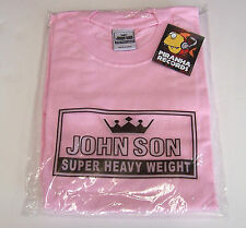 John Son Premium Quality Pink T-Shirt XL 100% Cotton Piranha Records