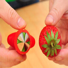 COOL Strawberry Stem Leaves Huller Remover Removal Fruit Corer Kitchen Gadgets