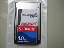 SANDISK 1GB Compact Flash +ATA PC card PCMCIA Adapter JANOME Machines
