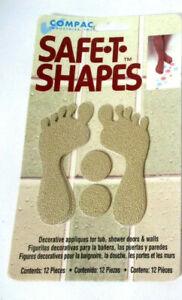 VTG 1997 Lot Of 2 Safe-T-Shapes Anti Slip Bathtub Tan Feet -NOS MADE IN USA