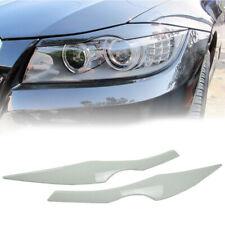 Painted 300 White Front Eyelids Eyebrows For BMW E90 E91 3-Series Sedan Wagon