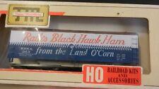 Train Miniature HO Rath Black Hawk Ham Billboard Reefer Kit, NIB