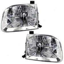 Toyota Tundra Pickup Truck 2000-2004 Headlights Headlamps Pair Set Left & Right