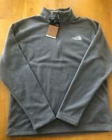 The North Face Men's Textured Cap Rock 1/4 Zip Mid Grey Size L Large Jacket