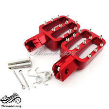 Red Footpegs Rest Pegs For CRF50 SSR Thumpstar 90 110 125 150 cc Pit Dirt Bike