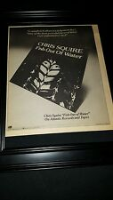 Chris Squire Fish Out Of Water Rare Original Promo Poster Ad Framed!