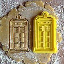 TARDIS cookie cutter. Police Box cookie stamp.