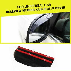 1Pair Auto Rear View Mirror Plastic Rain Guard Waterproof Sun Visor Shade Shield