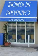 Adesivi pubblicita tende pvc negozi vetrine tendalini bar attivita commerciali