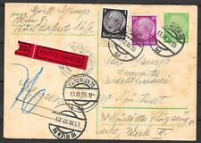 German Reich/AUSTRIA covers 1939 RohrPost Express PC Wien to Wiener Neustadt
