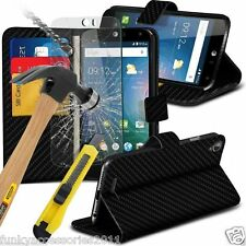 Leather Wallet Book Quality Phone Case Cover✔Glass Screen Protector✔Google