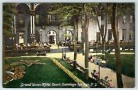 SARATOGA SPRINGS NEW YORK*NY*GRAND UNION HOTEL COURT*1910-1920's ERA UNUSED