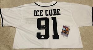 RARE Ice Cube NWA auto signed TOUR jersey RAIDERS DODGERS Easy E Dr Dre JSA