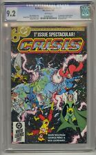 CRISIS ON INFINITE EARTHS #1 CGC 9.2 1ST BLUE BEETLE IN DC WHITE PAGES