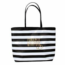 Large Ladies Tote Bag Gift Handbag For Women Black/White