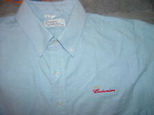 """Executive Collection By Riverside Budweiser Shirt Size 18 1/2""""  36-37"""