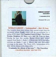 (CV283) Simian Ghost, Automation - 2012 DJ CD