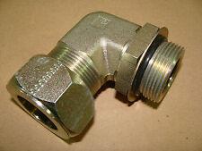 "Parker 20-C5BU-S 1-1/4"" SAE - ORB 90 Degree Hydraulic Compression Tube Fitting"