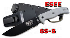 ESEE Model 6 Serrated Edge With Black Molded Sheath 6S-B