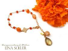 Lina Sóller, Armband mit Jade, Karneol, Lemonquar 925 Silber 24K vergoldet /1725