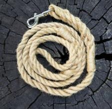 Jute Rope Dog Leash, Braided Rope Walking Dog Lead, Handmade Dog Leash