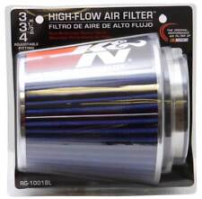 "K&N Universal Air Cone Intake Filter Chrome Round Tapered Blue Fits 3"" - 4"""