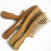 USA Natural Sandalwood Handmade Massage Comb Wooden Wide Tooth Comb Hair Care