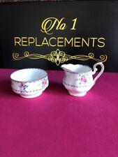 "Royal Albert Petit Point Milk / Cream Jug 3.25"" And Open Sugar Bowl"