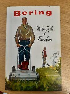 Original 1950s Bering Motor scythe Lawn mower & Flame gun sales brochure