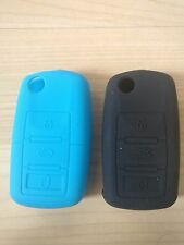2 x SILICONE COVER VW AUDI GOLF PASSAT BORA POLO SCIROCCO 3 BUTTON FLIP KEY