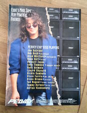 EDDIE VAN HALEN Peavey Amps magazine ADVERT/Poster/clipping 11x8 inches