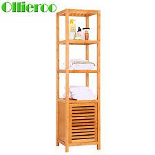 ollieroo 5tier bamboo floor bathroom storage cabinet shelf