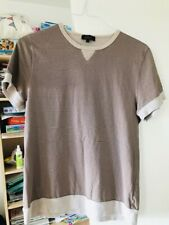 Apc brown/creme striped t-shirt WORN at edges