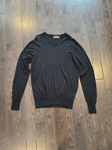 G/fore Sweater Size Medium Black With White Elbow Accents