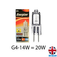 5 X G4 Halogen Capsule Light Bulb Replace LED Lamp 12v - 14w 20w Energizer UK