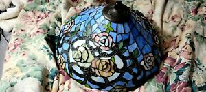 Stained Glass Lamp Shade Antique Victorian Style