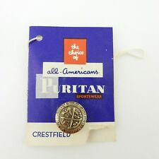"""New listing Puritan Sportswear Button Card Size 3/4"""" Washable Dry Cleanable Vtg Ship Crown"""