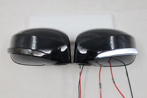 LED Sequential Mirror Light+ Black Cover,Turn Light DRL Fit~2009-2016~GTR R35