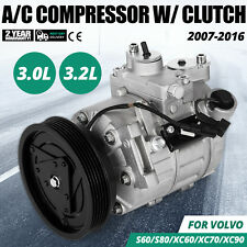 Get AC Compressor & A/C Clutch For Volvo XC70 XC90 & Land Rover 68675 Free