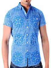 Men's Cotton Button Down Short Sleeve Regular Casual Shirts & Tops