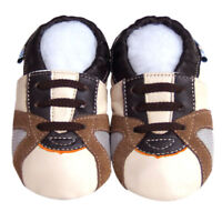 FreeShip Littleoneshoes Soft Sole Leather Baby Infant TrainerBeige Shoes 18-24M