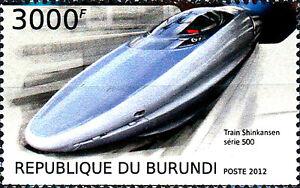 Burundi postfrisch MNH Eisenbahn Shinkansen 500 Japan Hochgeschwindigkeitszug