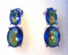 GORGEOUS MYSTIC  TOPAZ  STUD  EARRINGS