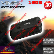 Voice Recorder Listening Device 16G Vimel 3G Gsm Remote Activation No Spy Hidden