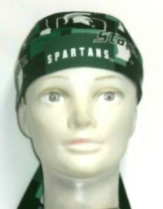 Skull Cap for University of Michigan State Spartans on Green 100% Cotton #404