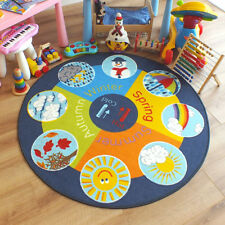 Superb Kids Childs Rug Weather wheel Large Round 1.33m x 1.33m 4'4 x 4'4 approx