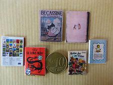 Lot de 3 livres miniatures au 1/12 ème pour vitrine miniature, maison de poupée