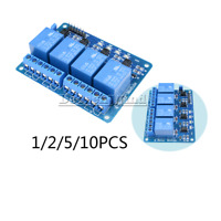 1/2/5/10PCS 4 Channel Relay DC 5V Optocoupler Module For Arduino PIC ARM AVR