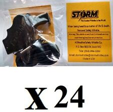Storm whistle black with breakaway  lanyard  Pack of 24
