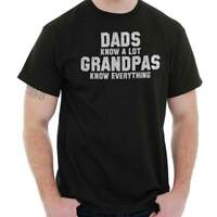 Grandpas Know Everything Fathers Day Gift Mens T-Shirts T Shirts Tees Tshirt